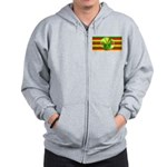 Old Hawaiian Flag Design Zip Hoodie