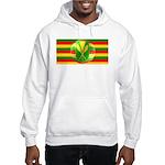 Old Hawaiian Flag Design Hooded Sweatshirt