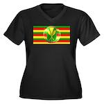 Old Hawaiian Flag Design Women's Plus Size V-Neck