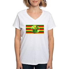 Old Hawaiian Flag Design Women's V-Neck T-Shirt