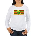 Old Hawaiian Flag Design Women's Long Sleeve T-Shi