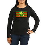 Old Hawaiian Flag Design Women's Long Sleeve Dark