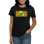 Old Hawaiian Flag Design Women's Dark T-Shirt