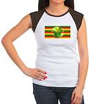 Old Hawaiian Flag Design Women's Cap Sleeve T-Shir