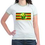 Old Hawaiian Flag Design Jr. Ringer T-Shirt