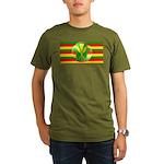 Old Hawaiian Flag Design Organic Men's T-Shirt (da