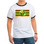 Old Hawaiian Flag Design Ringer T