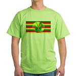 Old Hawaiian Flag Design Green T-Shirt