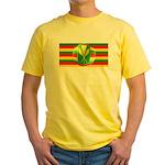 Old Hawaiian Flag Design Yellow T-Shirt