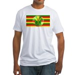 Old Hawaiian Flag Design Fitted T-Shirt