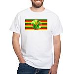 Old Hawaiian Flag Design White T-Shirt