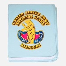 Army National Guard - Missouri baby blanket