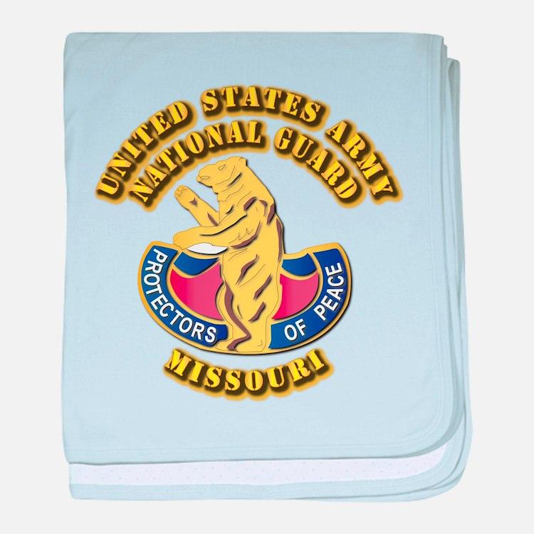Army National Guard - Missouri baby blanket
