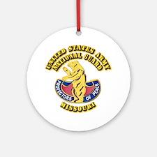 Army National Guard - Missouri Ornament (Round)