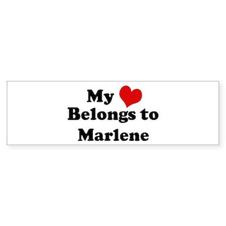 My Heart: Marlene Bumper Sticker