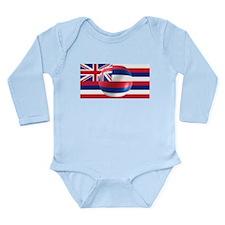 Hawaiian Flag Design Long Sleeve Infant Bodysuit