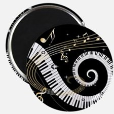 Mixed Musical Notes (black go Magnet