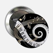 """Mixed Musical Notes (black go 2.25"""" Button"""