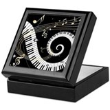 Musical notes Square Keepsake Boxes