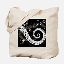 Mixed Musical Notes (black go Tote Bag