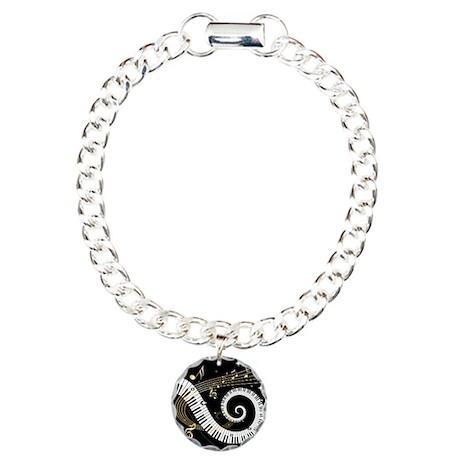 Mixed Musical Notes (black go Charm Bracelet, One