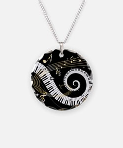 Mixed Musical Notes (black go Necklace