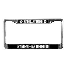 Norwegian Lundehund License Plate Frame