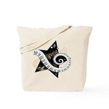 Music star gold black Tote Bag