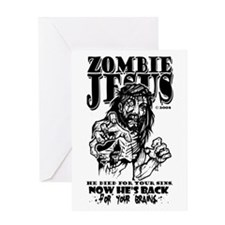 """Zombie Jesus """"Back for your BRAINS"""" Gree"""