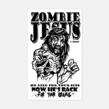 """Zombie Jesus """"Back for your BRAINS"""" Stic"""