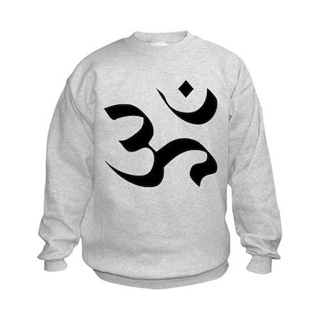Om Meditation Symbol Kids Sweatshirt