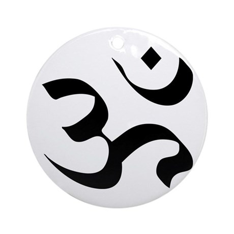 Om Meditation Symbol Ornament (Round)