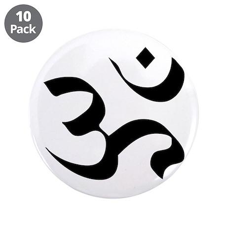 "Om Meditation Symbol 3.5"" Button (10 pack)"