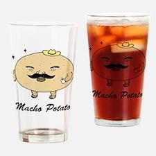 Tough Guy Macho Potato Drinking Glass