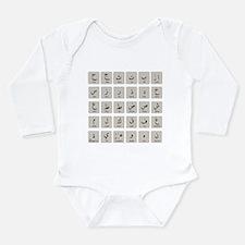 Arabic Alphabet LATEST Long Sleeve Infant Bodysuit