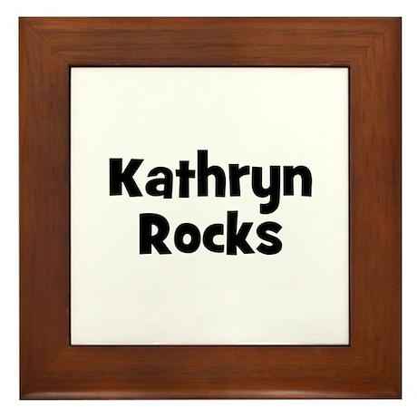 Kathryn Rocks Framed Tile