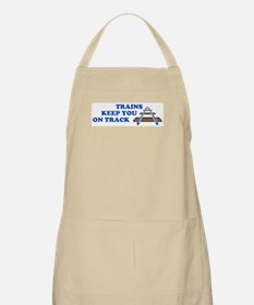 Trains On Track BBQ Apron