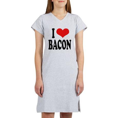 I Love Bacon Women's Nightshirt