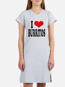 I Love Burritos Women's Nightshirt