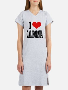 I Love California Women's Nightshirt