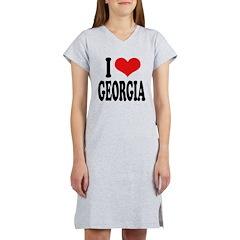 I Love Georgia Women's Nightshirt