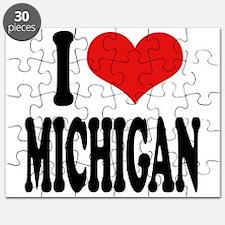 I Love Michigan Puzzle
