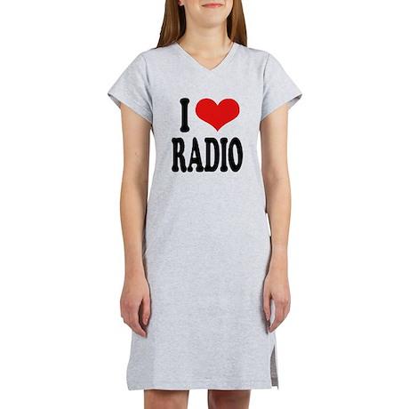 I Love Radio Women's Nightshirt