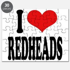 I Love Redheads Puzzle