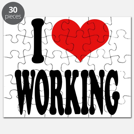 I Love Working Puzzle