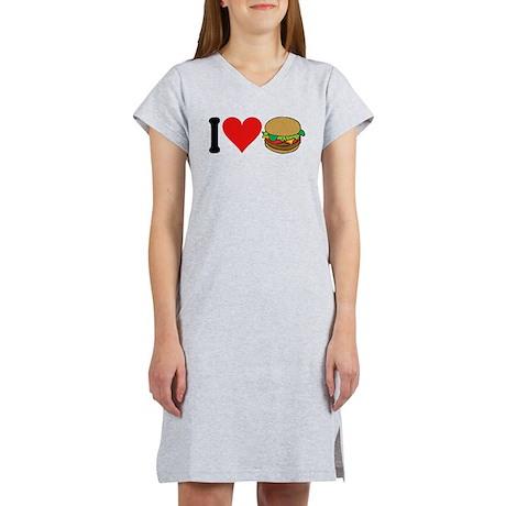 I Love Hamburgers (design) Women's Nightshirt