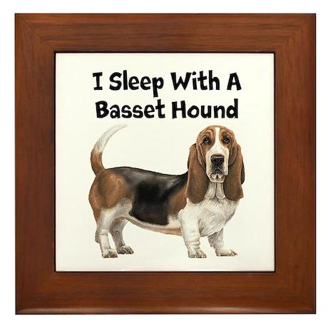 I Sleep With A Basset Hound Framed Tile