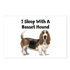 I Sleep With A Basset Hound Postcards (Package of
