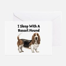 I Sleep With A Basset Hound Greeting Cards (Pk of