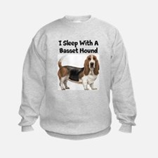 I Sleep With A Basset Hound Sweatshirt